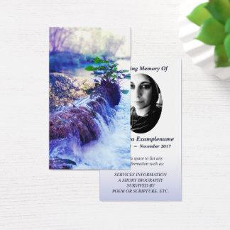 memorial card water haze