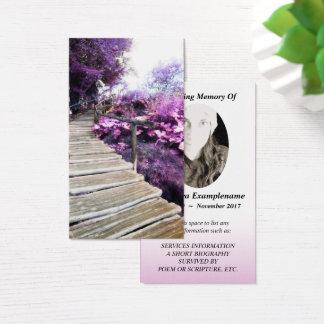 memorial card wisteria stairs