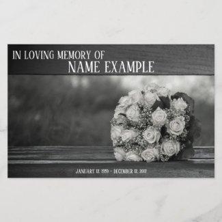 Memorial Cards A bouquet...