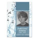 "memorial cards : silhouscreen birds 3.5"" x 5"" invitation card"