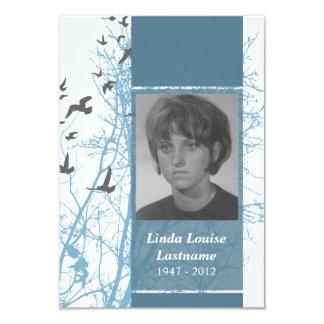 memorial cards : silhouscreen birds invites