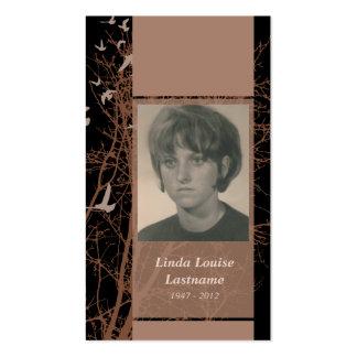 memorial cards : silhouscreen night business card