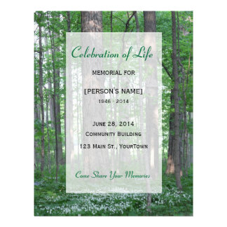 Memorial Celebration of Life Forest Invitatition Flyers