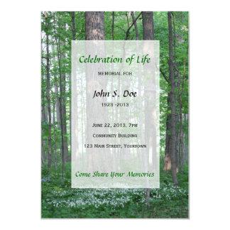 Memorial Celebration of Life - Forest Scene 5x7 Paper Invitation Card