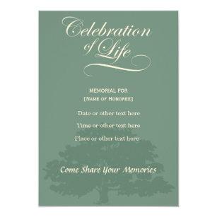 Memorial Celebration of Life Oak Sage invitatation Invitation