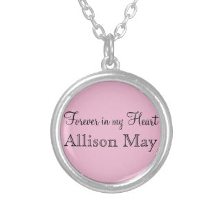 Memorial Charm for Wedding Bouquet in Pink Custom Necklace