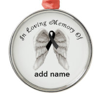 Memorial Christmas Ornament Black Ribbon