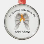 Memorial Christmas Ornament Orange  Ribbon
