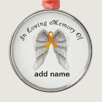 Memorial Christmas Ornament Orange  Ribbon