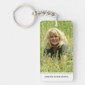 Memorial - Clouds on Back - They Are Where We Double-Sided Rectangular Acrylic Keychain