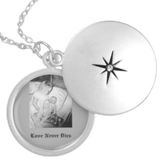 Memorial Customizable Silver Plated Necklace