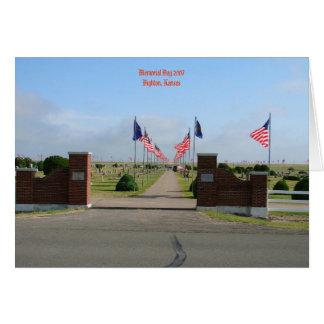 Memorial Day 2007 Dighton, Kansas Greeting Card