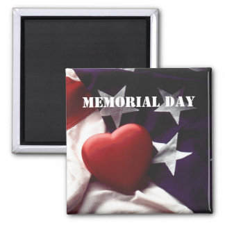 Memorial Day 2 Inch Square Magnet