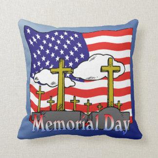 Memorial Day - americano MoJo del tiro de la lápid Cojines