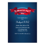 Memorial Day Banners Invitation