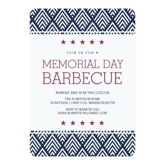 memorial day barbecue party invitation zazzle com