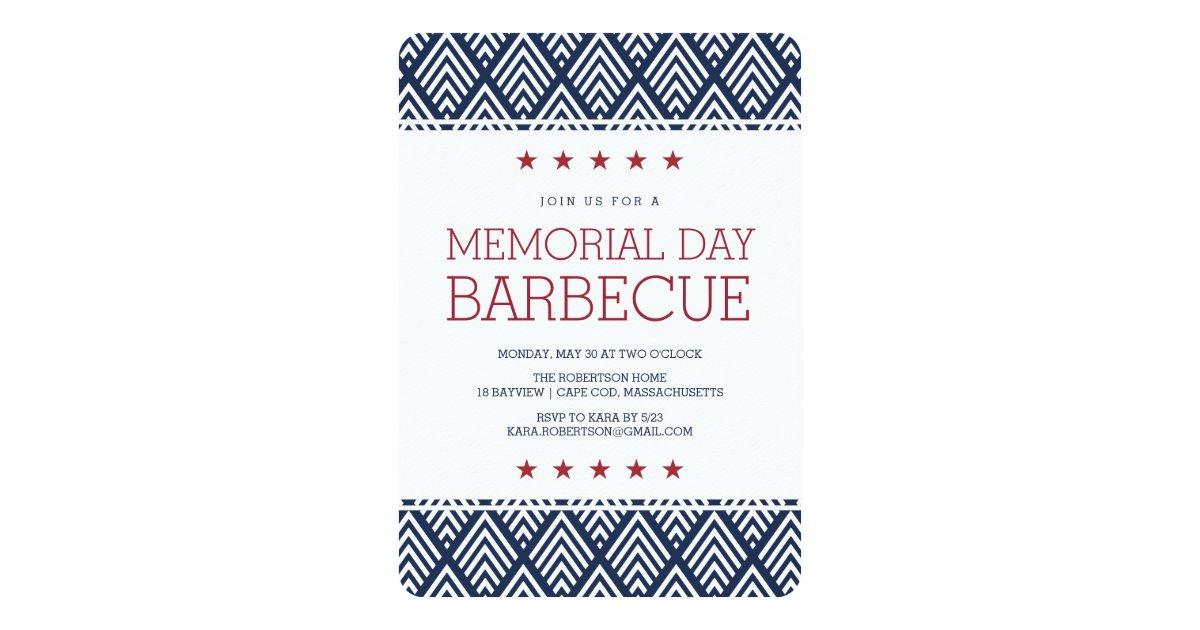 Memorial Day Barbecue Party Invitation Zazzle