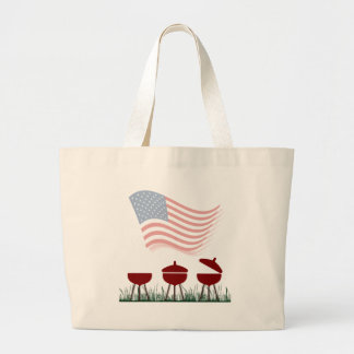 Memorial Day Barbeque Cookout Jumbo Tote Bag