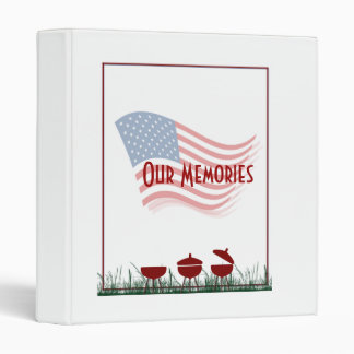 Memorial Day Barbeque Cookout Vinyl Binder