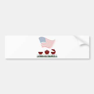 Memorial Day Barbeque Cookout Bumper Sticker