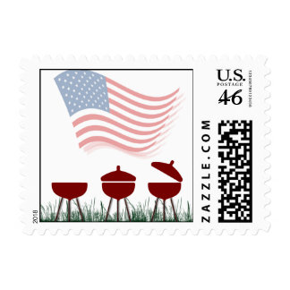 Memorial Day Barbeque Cookout Postage Stamp