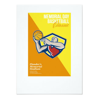 Memorial Day Basketball Classic Poster 14 Cm X 19 Cm Invitation Card