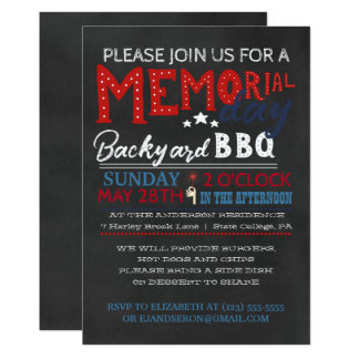 Memorial Day BBQ Invitation