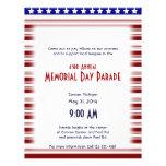 Memorial Day blanco y azul rojo de Candystripe Tarjeta Publicitaria
