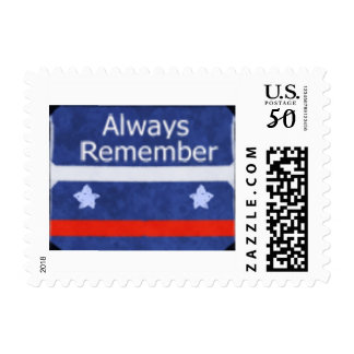Memorial day Blue Postage