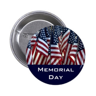 Memorial Day Pinback Buttons