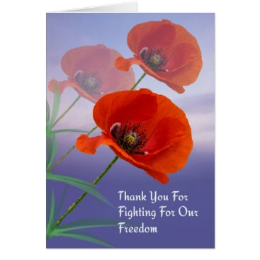 Memorial Day Card with Poppies