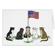 Memorial Day Cat Greeting Card