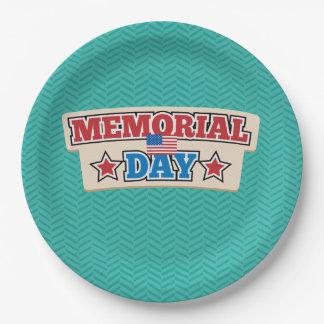 Memorial Day Chevron Disposable Plates