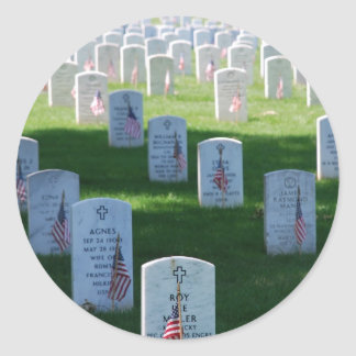 Memorial Day Classic Round Sticker