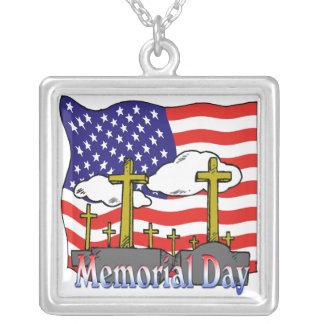 Memorial Day - collar de la lápida mortuaria de la