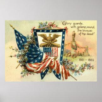Memorial Day de Eagle de la guerra civil de la Póster