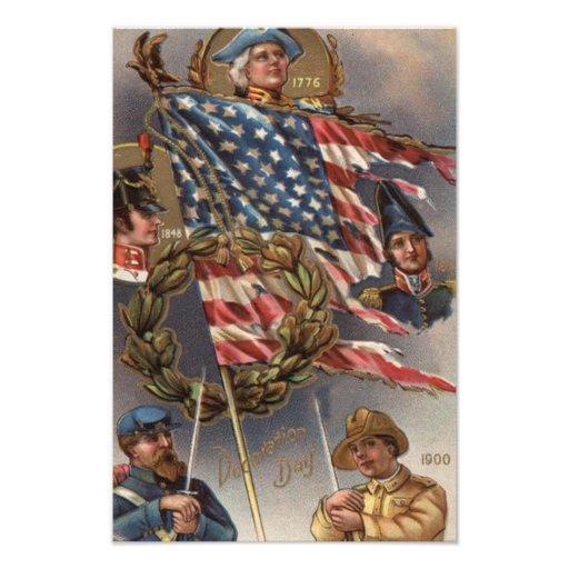 Memorial Day de los militares de la guirnalda de l Impresiones Fotograficas