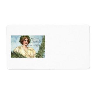 Memorial Day de señora Liberty Wreath Etiqueta De Envío