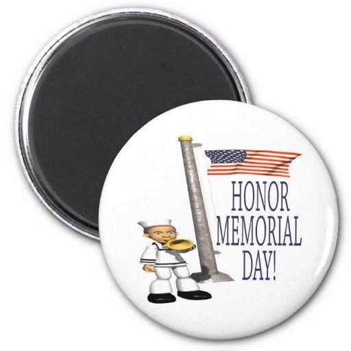Memorial Day del honor Imán Redondo 5 Cm