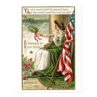 Memorial Day del vintage Postales