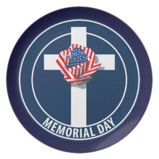 Memorial Day Dinner Plate