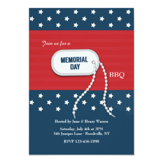 Memorial Day Dog Tag Invitation