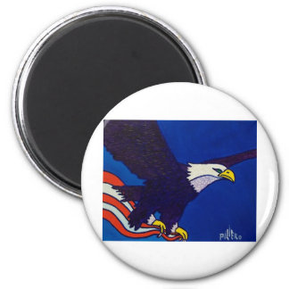 Memorial Day Egale by Piliero 2 Inch Round Magnet