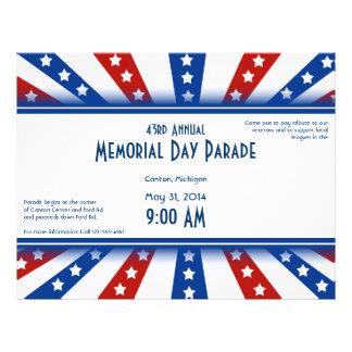 Memorial Day estrellado de la bandera Tarjeta Publicitaria
