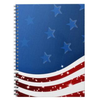 Memorial Day estrellado de la bandera Libretas Espirales