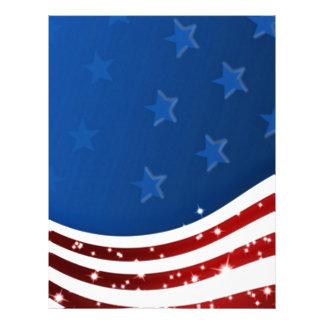 Memorial Day estrellado de la bandera Plantilla De Membrete
