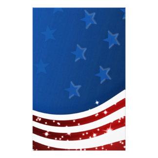 Memorial Day estrellado de la bandera Papeleria De Diseño