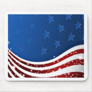 Memorial Day estrellado de la bandera Alfombrillas De Ratones