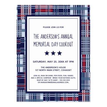 Memorial Day Event Patriotic Invitation Postcard
