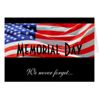 Memorial Day Fallen Soldiers Remembrance Card